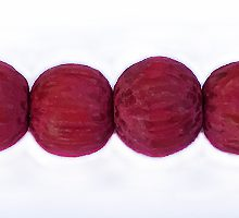 Wholesale Dyed Palmwood 8mm round beads magenta Pink-Limited Stock Only