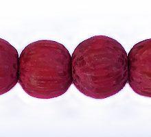 Dyed Palmwood 8mm magenta Pink