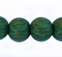 Wholesale Dyed Palmwood 8mm round beads Forest Green-Limited Stock Only