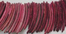Coco sticks dyed fuschia pink 10x50mm