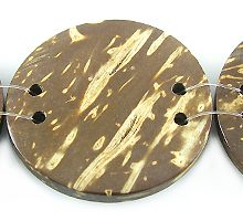 Flat round disc coconut shell beads 30mm