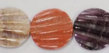Pectin Shell round disc 15mm multicolored