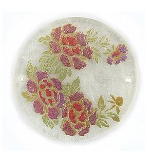 Lilac Rose Round Laminated
