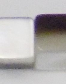 Blacklip 3mm cube shell beads