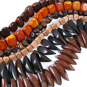 Types of Natural Wood Beads Part 1