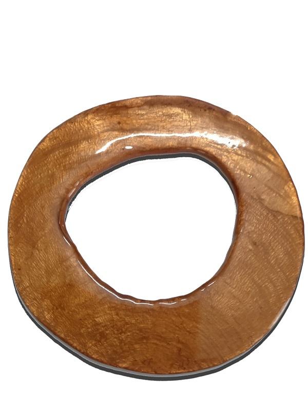 Capiz Shell Irregular Donut Orange 80mm